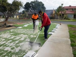 Next Generation Turf DIY workers