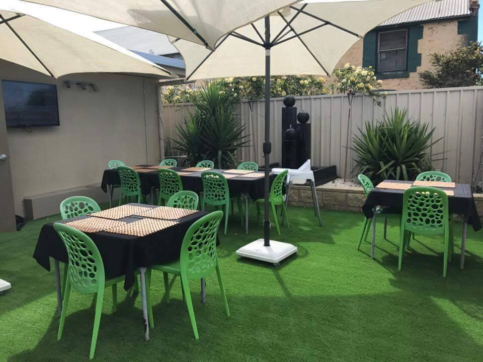 Empire Cafe beer garden with Next Generation Turf